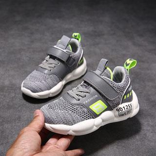 時尚網面透氣兒童運動鞋