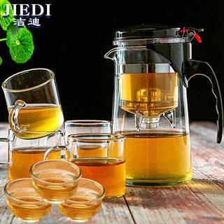 玻璃泡茶具1壶6杯套装