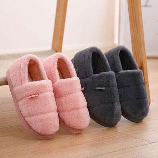 冬季加厚包跟保暖棉拖鞋