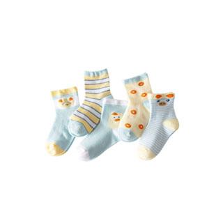 男女童秋季棉袜5双