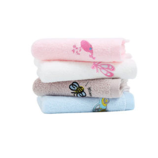 潔麗雅純棉卡通毛巾6條裝