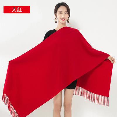 男女冬季百搭大红围巾