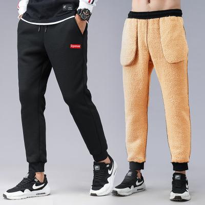 男加绒加厚休闲长裤