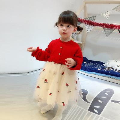 加绒加厚公主裙洋气裙子