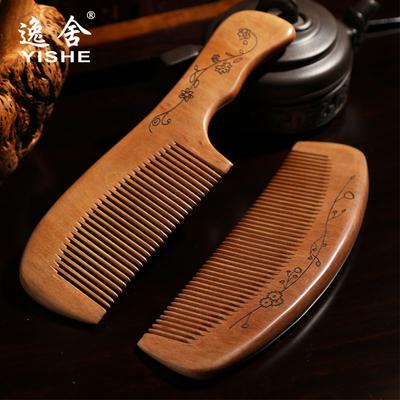 天然桃木梳子