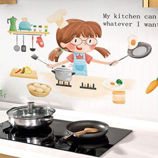 厨房家用防油烟墙纸