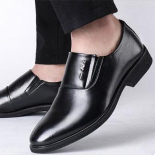 公牛世家真皮透气皮鞋