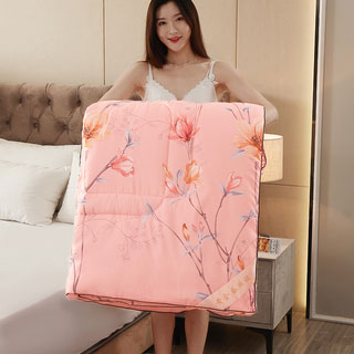 100桑蚕丝纯棉立体保暖被