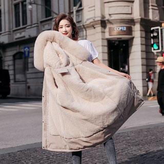 羊羔絨保暖羽絨棉服派克服