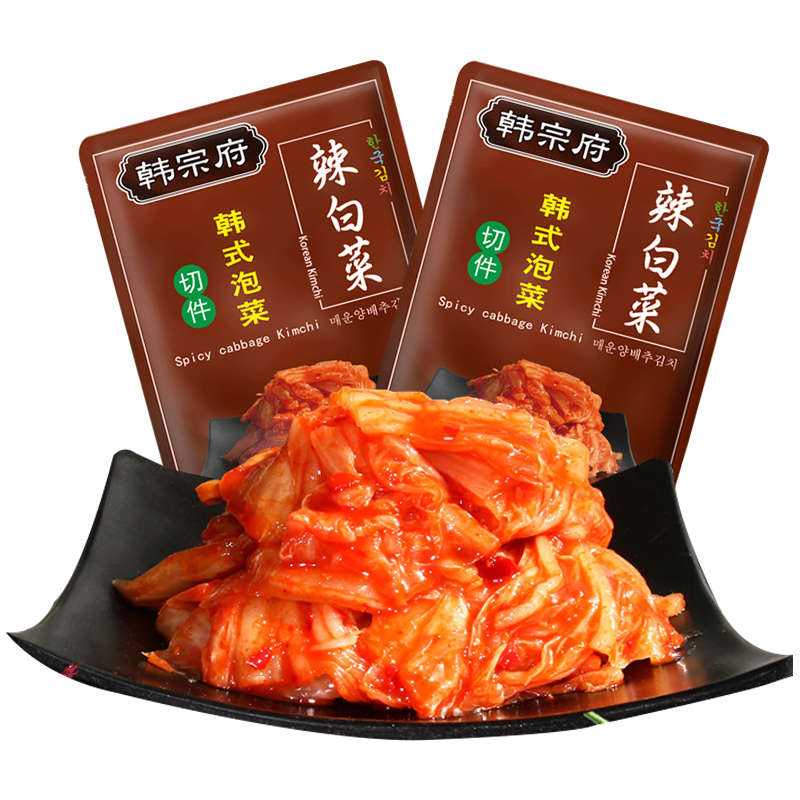 韩宗府正宗辣白菜450gx2袋