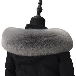 皮草羽绒服通用帽条毛领子