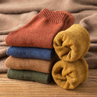 冬季加厚加绒袜子4双