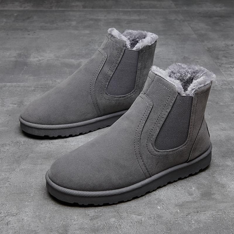 男士保暖加绒雪地高帮靴