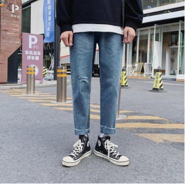 韓版時尚牛仔褲修身小腳