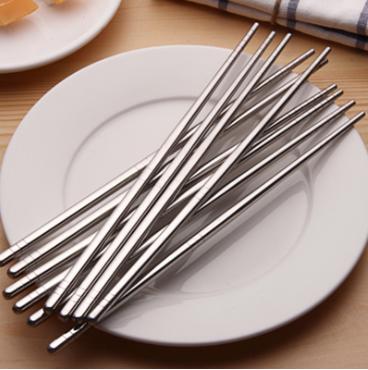 10雙 不銹鋼304方形防滑筷