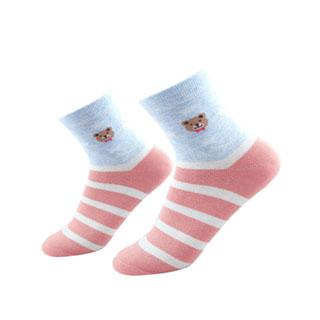 共12雙南極人女士中筒棉襪
