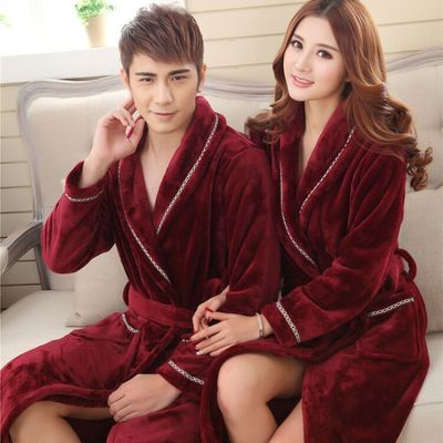 情侶法蘭絨浴袍