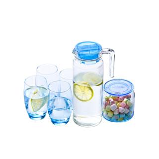 進口玻璃杯水壺套裝6件套