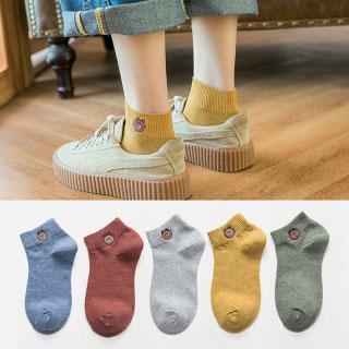 純色棉襪淺口女襪子7雙