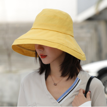 雙面百搭遮陽防曬漁夫帽