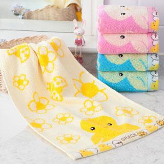 洁丽雅纯棉儿童毛巾5条