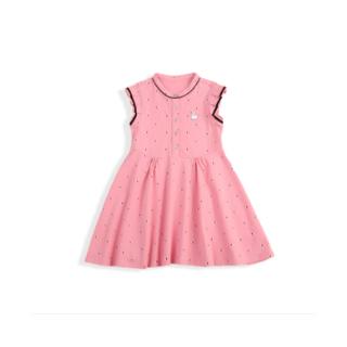 女童針織短袖連衣裙