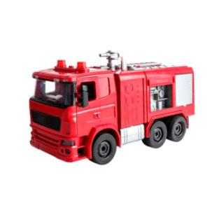 可噴水拆裝消防車玩具