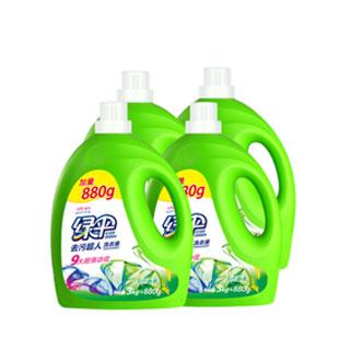 绿伞31斤洗衣液3.88kg4瓶