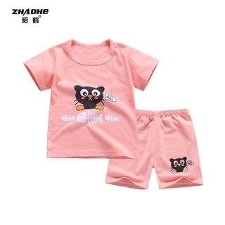 儿童纯棉短袖T恤套装