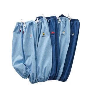 兒童純棉牛仔防蚊褲