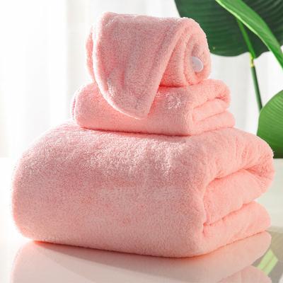 吸水浴巾毛巾浴帽三件套
