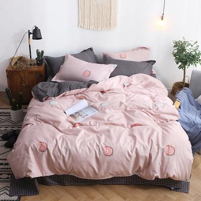 網紅水洗棉床上3件套