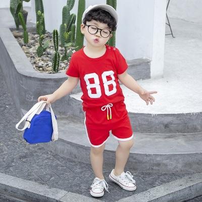 夏裝兒童短袖套裝