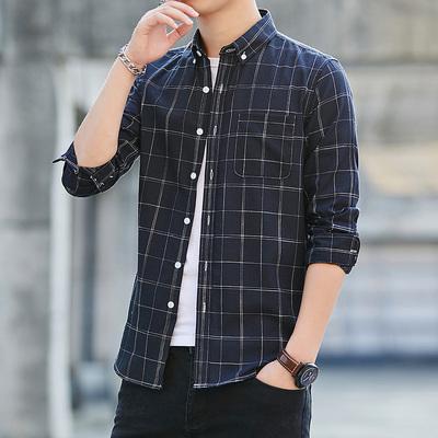 男士商务长袖衬衫
