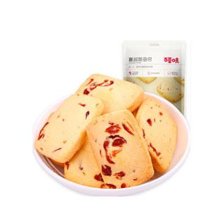 百草味蔓越莓曲奇100g*4袋