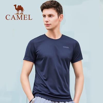 駱駝男裝速干短袖t恤