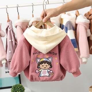 兒童繡花連帽外套