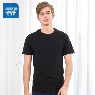 真維斯圓領凈色短袖T恤