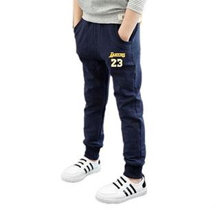 纯棉男女童休闲运动裤子