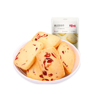百草味蔓越莓曲奇100g*3