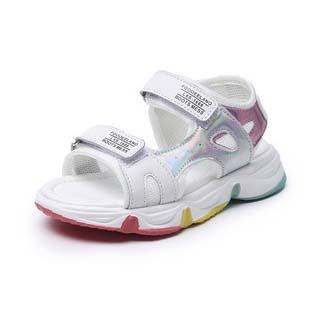 儿童彩虹底凉鞋沙滩鞋