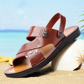 男士夏季透气休闲沙滩鞋