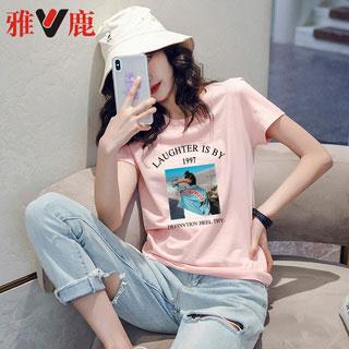 雅鹿纯棉短袖T恤