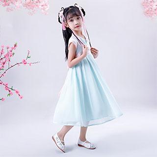 儿童汉服中国风连衣裙