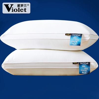 2个紫罗兰全棉羽丝绒枕头