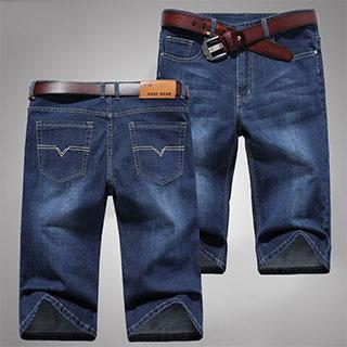 买1送1薄款弹力牛仔短裤