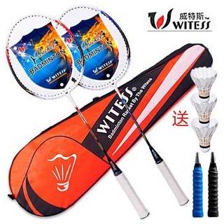 WITESS羽毛球拍2支套装