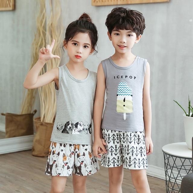 夏季纯棉儿童睡衣