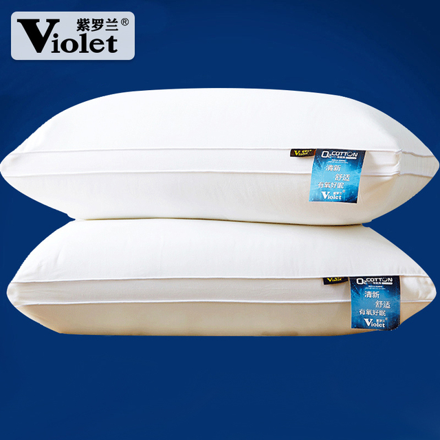 一对装紫罗兰羽丝绒水洗枕头