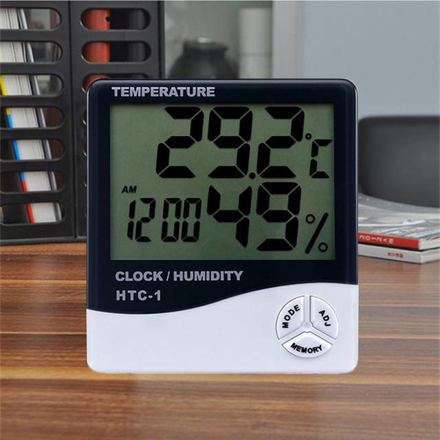 家用室內電子溫度計鬧鐘